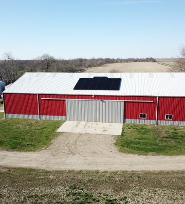 38 Solar Panels Installed on a Barn's Roof