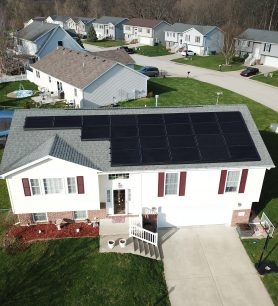 24 Solar Panels Installed in a Residential Subdivision