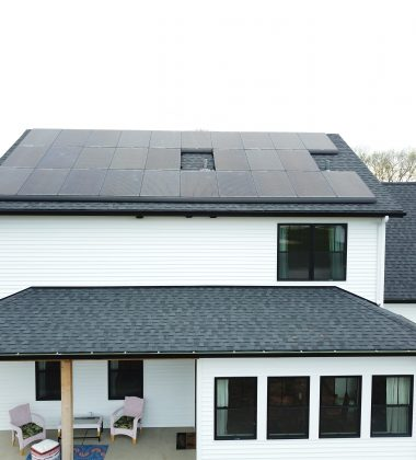 28 Solar Panels Installed on the Back of a Home's Roof