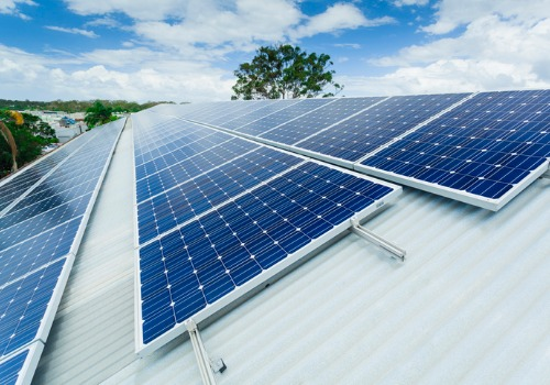 Solar panels on a metal roof installed by Solar Energy Companies in Richmond VA