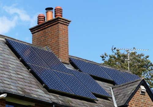 Solar panels on a private home, installed by Solar Energy Companies in Richmond VA